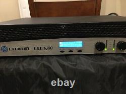 Crown Cdi1000 Amplificateur De Puissance 2 Canaux Pro Audio Dj Rackmount. Pas De Réservation