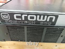 Crown Com-tech 800, Ct800, Amplificateur Professionnel Entièrement Fonctionnel
