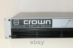 Crown Mt-1200 Pro Audio Pa Power Amplificateur W. Manuel (2x480w @ 4 Ohm/1300w Mono)