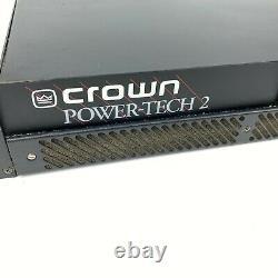Crown Power-tech 2 Professional Rack Mount Power Amplificateur Testé Et De Travail