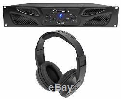 Crown Pro Xli800 Ampli De Puissance 2 Canaux Dj / Pa 600w Pour Ampli XLI 800 + Écouteurs