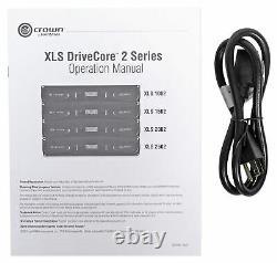 Crown Pro Xls2502 Xls 2502 2400w Amplificateur De Puissance Dj/pa, Seulement 11 Lbs + Dsp