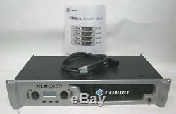 Crown Xls1500 Pro Amplificateur De Puissance Avec Manuel