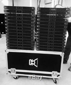 Cvr D-1002 Série Professionnelle Puissance Amplifier1 Espace 1000 Watts X2 À 8 Noir