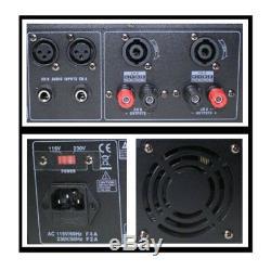 Emb Pro Pa4400 2400w Amplificateur Dj 2u Puissance Rack 2u Ampli Montage Stéréo