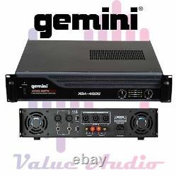 Gemini Pro Audio Équipement Montable 4000 Watt Pa Systèmes Dj Haut-parleurs Amplificateurs