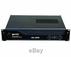 Gemini Xga3000 Amplificateur De Puissance Professionnel 3000w Rack Pa Amp Xga3000