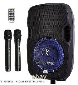 Haut-parleur Amplifié Alphasonik 8 Portable Rechargeable