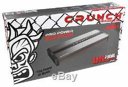 Kit Amplificateur Audio Pour Auto Amplificateur Classe Ab + Puissance 4 Canaux 4000 / 4w Crunch Pd4000.4
