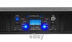 Lz10k Pro Technique Pro 10,000w 2 Canaux Amplificateur Withlcd Affichage + Verrouillage Des Touches + Casque