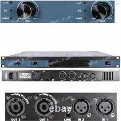 Micwl 3600 Watt Peak 2 Canal Digital Power Amplificateur Pro Dj Amp Speaker 1u 19