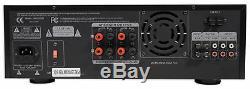 Mm2000bt Pro Technique Karaoke Mixer Bluetooth Amplificateur Amp Powered Sd, Usb