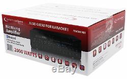 Mm2000bt Pro Technique Microphone Mixer Bluetooth Amplificateur Amp Powered Sd, Usb