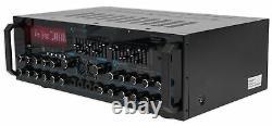 Mm2000bt Pro Technique Microphone Mixer Bluetooth Powered Amplificateur Amp Sd, Usb