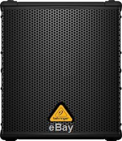 Pair Behringer B1200d-pro Subwoofer Actif Alimenté Sub 500w Amplifié Avec 2x Xlr