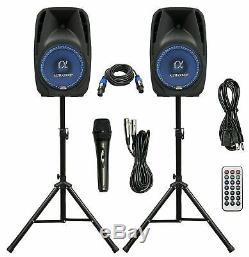 Paire Alphasonik Tout-en-un 10 Powered 1000w Pro Dj-parleurs Haut-parleurs Amplified
