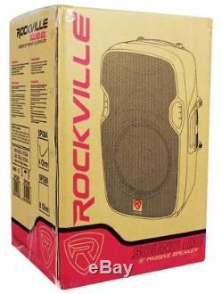 Paire Enceintes Rockville Spg84 8 Dj Pa + Ampli De Puissance Pro + Pieds + Câble + Sac