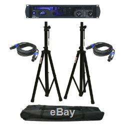 Peavey Ipr2 2000 Pro Amplificateur De Haut-parleur 2000w Pieds D'ampli Et Câbles Speakon
