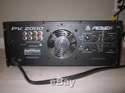 Peavey Pv2000 Professional Stéréo D'amplificateur De Puissance 2000 Watts