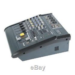 Pro 4 Canaux Powered Puissance Mixer Mixage Amplificateur Reverb 16dsp Avec Usb