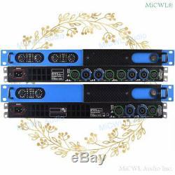 Pro 5200w 4 Canaux De Puissance Numérique Amplificateur Audio Préamplis 2600 Watts 2 Canaux