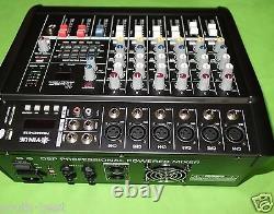 Pro 6 Way 800w Amplificateur Puissance Mélangeur Console Mixeur 16dsp 48v Usb