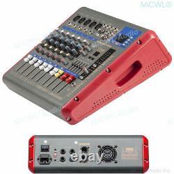 Pro 7 Canaux Power Mixer 1200 Watts Amplificateur Microphone Console De Mixage Dsp Eq