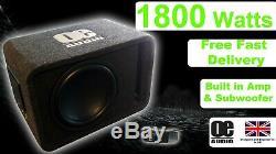 Pro Plus Extreme Power 1800w 12 Amplified Caisson De Grave Actif Sous Ampli Basse