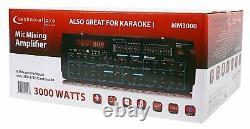 Pro Technique Mm3000 Amplifieur De Mélangeur De Microphone Bluetooth Alimenté Amplificateur Sd, Usb