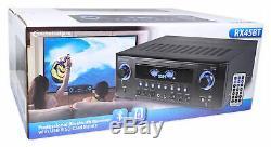 Pro Technique Rx45bt Home Cinéma Récepteur 1000w Amplificateur Bluetooth Usb + Télécommande