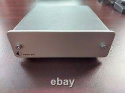 Pro-ject Audio Phono Box DC Mm/mc Phono Preamp Avec Line Output Silver