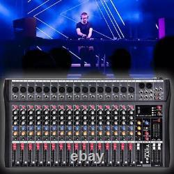 Professional 16 Channel Live Studio Audio Mixer Power Mixing Amplificateur USA