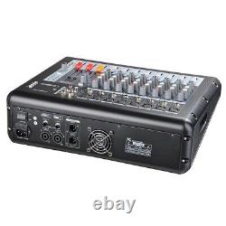 Professional Power Mixer Amp Amp 8 Canal Usb 16dsp LCD Recording Studio