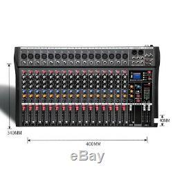 Puissance Amplifiée Professionnelle De Mélangeur Actionnée Professionnelle De 4000 Watts 16 Mélangeant L'amplificateur Amp USA