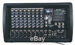 Puissance Amplifiée Professionnelle De Mélangeur Actionnée Professionnelle De 4000 Watts 8 Mélangeant L'amplificateur Bm55