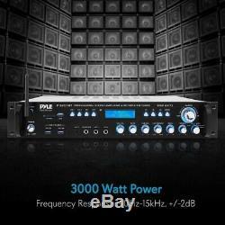 Pyle P3201bt Multi-canaux Bluetooth Préamplificateur Récepteur, Pro Audio, 3000 Watt