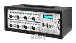 Pyle Pmx802m Mixer Ampli Actif Amplifié Dj 8 Canaux 800w Mp3 Usb