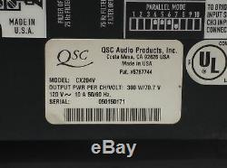 Qsc CX Cx204v Ampli De Puissance Stéréo Audio Direct 4 Canaux 70v 200w Pro Audio
