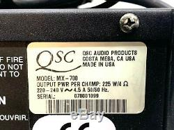 Qsc Mx700 220-240v Professionnel Stereo Amplificateur Withpower Cord # 5648 # 5649 (one)