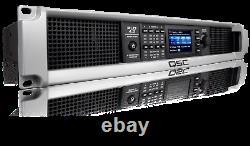 Qsc Pld4.3 Amplificateur De Puissance Haute Fidélité 4-channel 1400w Livesound Pro Amp Withdsp