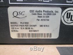 Qsc Plx-1602 Pro Amplificateur De Puissance 300w / Ch @ 8-ohms Boîte Et Manuel