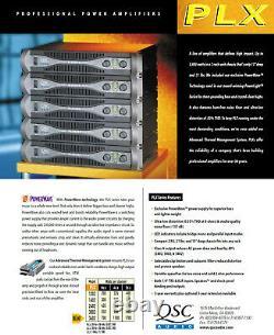 Rackmount Qsc Plx-3402 Professional 2-ch Stéréo Power Amp 700withch @ 8-ohms #370