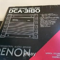 Rare Denon Dca-3180 2/1 Canal Power Amplificateur Classe Ab Pro Audio Ampli Plume