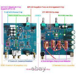 Récepteur D'amplificateur Numérique Hifi Bluetooth 5.0 Amplificateur Audio Stéréo Aptx-hd 130w×2