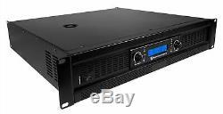 Rockville Rpa12 5000 Watt Crête / 1400w Rms 2 Canaux Amplificateur Pro / Dj Amp