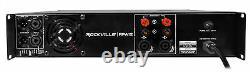Rockville Rpa12 5000 Watt Peak / 1400w Rms 2 Channel Power Amplificateur Pro / Dj Amp