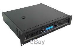 Rockville Rpa14 Peak 2000w Rms 2 Canaux De Puissance Amplificateur Pro / Dj Amp + Câbles