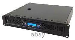 Rockville Rpa16 10000 Watt Crête / 3000w Rms 2 Canaux Amplificateur Pro / Dj Amp