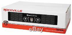 Rockville Rpa9 3000 Watt Crête / 1500w Rms 2 Canaux Amplificateur Pro / Dj Amp
