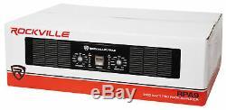 Rockville Rpa9 3000 Watt Rms Pointe / 1500w 2 Canaux Amplificateur De Puissance Pro / Dj Amp